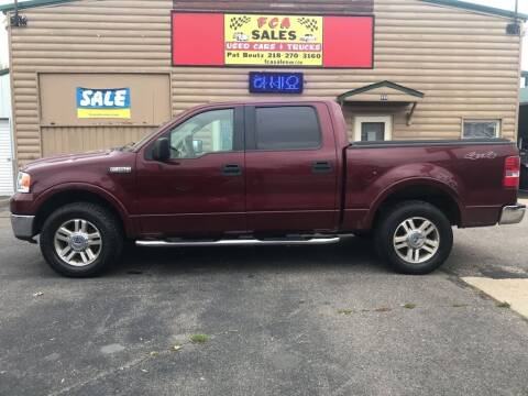 2006 Ford F-150 for sale at FCA Sales in Motley MN