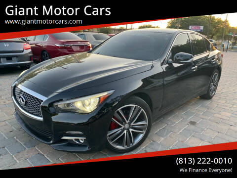 2015 Infiniti Q50 for sale at Giant Motor Cars in Tampa FL
