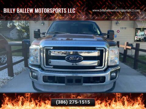 2012 Ford F-250 Super Duty for sale at Billy Ballew Motorsports LLC in Daytona Beach FL