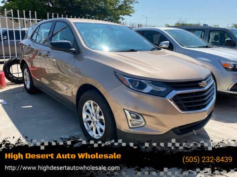 2018 Chevrolet Equinox for sale at High Desert Auto Wholesale in Albuquerque NM