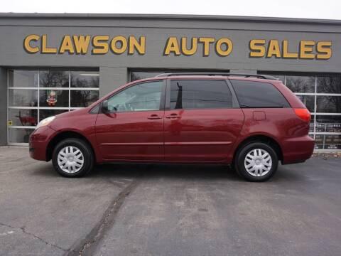 2006 Toyota Sienna for sale at Clawson Auto Sales in Clawson MI