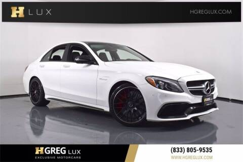 2017 Mercedes-Benz C-Class for sale at HGREG LUX EXCLUSIVE MOTORCARS in Pompano Beach FL