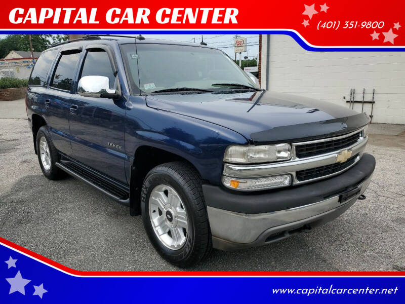 2003 Chevrolet Tahoe for sale at CAPITAL CAR CENTER in Providence RI