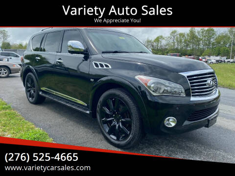 2014 Infiniti QX80 for sale at Variety Auto Sales in Abingdon VA