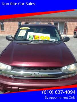 2004 Chevrolet TrailBlazer for sale at Dun Rite Car Sales in Downingtown PA
