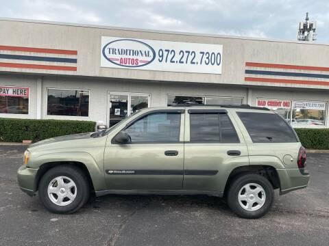 2003 Chevrolet TrailBlazer for sale at Traditional Autos in Dallas TX