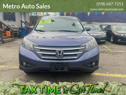 2012 Honda CR-V for sale at Metro Auto Sales in Lawrence MA