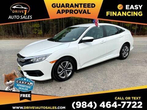 2018 Honda Civic for sale at Drive 1 Auto Sales in Wake Forest NC
