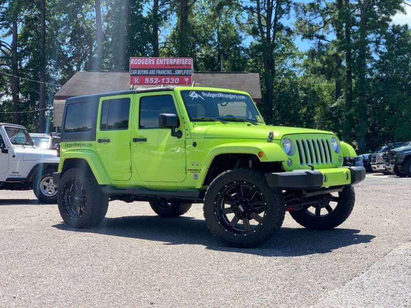 2016 Jeep Wrangler Unlimited for sale at Rodgers Wranglers in North Charleston SC