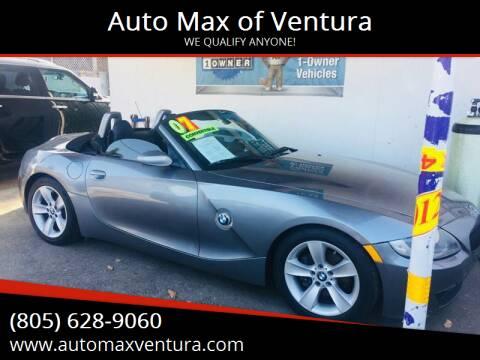 2007 BMW Z4 for sale at Auto Max of Ventura in Ventura CA