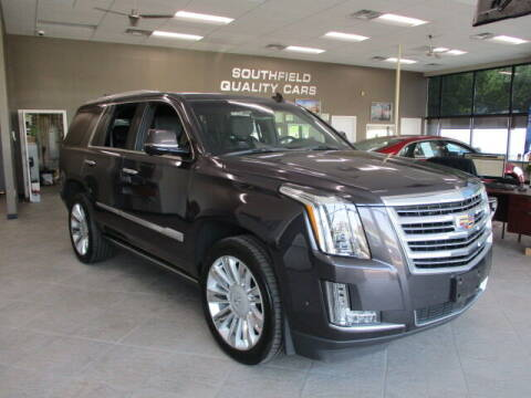2018 Cadillac Escalade for sale at SOUTHFIELD QUALITY CARS in Detroit MI