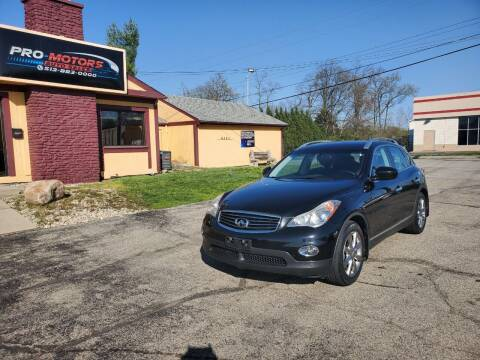 2008 Infiniti EX35 for sale at Pro Motors in Fairfield OH