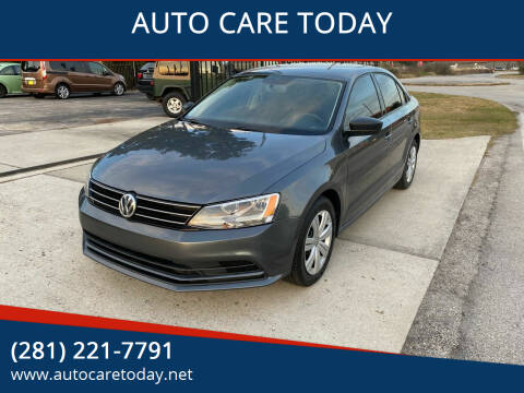 2015 Volkswagen Jetta for sale at AUTO CARE TODAY in Spring TX