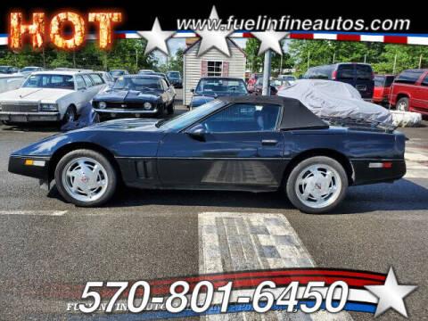 1989 Chevrolet Corvette for sale at FUELIN FINE AUTO SALES INC in Saylorsburg PA