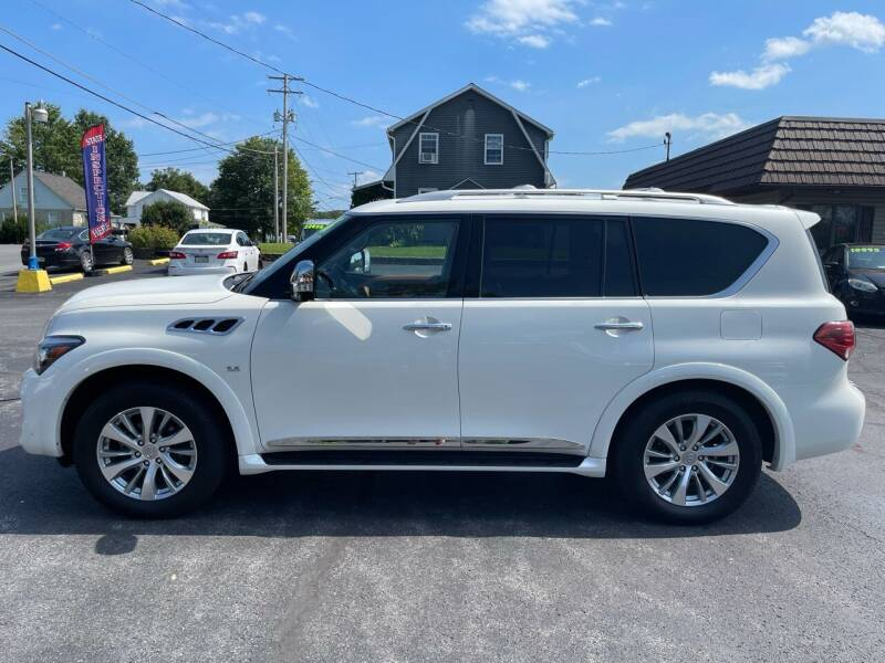 2016 Infiniti QX80 for sale at MAGNUM MOTORS in Reedsville PA