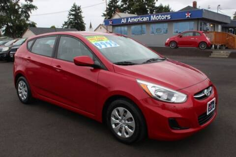 2016 Hyundai Accent for sale at All American Motors in Tacoma WA