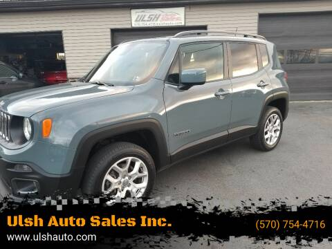 2018 Jeep Renegade for sale at Ulsh Auto Sales Inc. in Summit Station PA