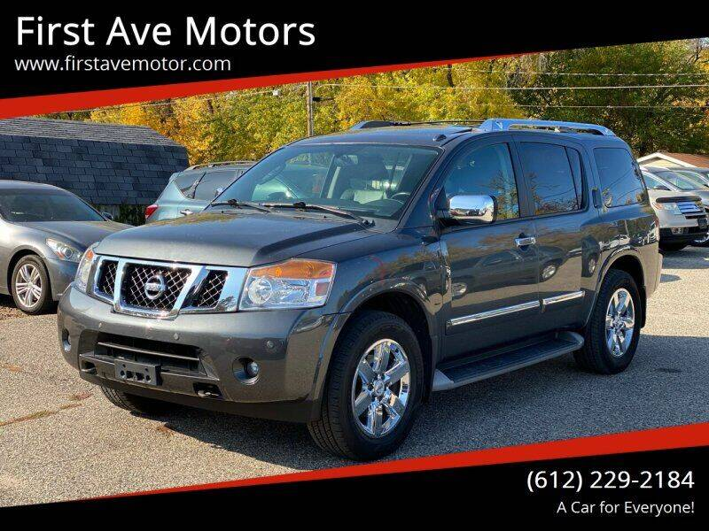 2012 Nissan Armada for sale at First Ave Motors in Shakopee MN