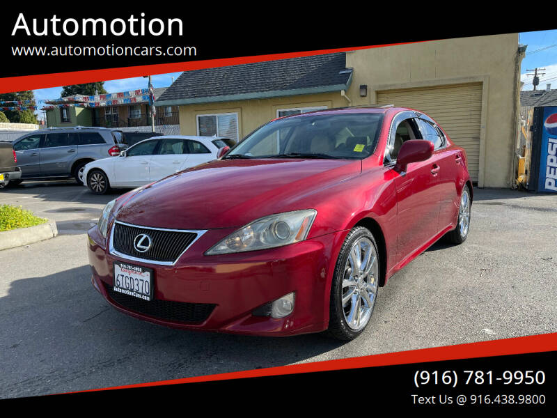 2006 Lexus IS 250 for sale at Automotion in Roseville CA