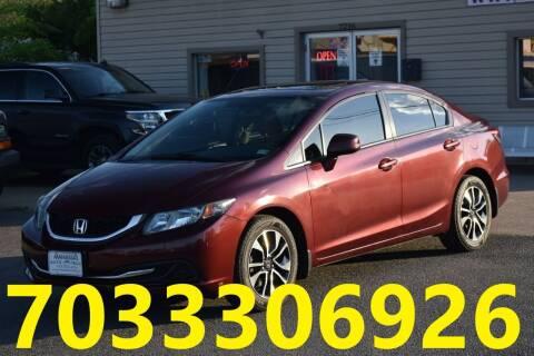 2013 Honda Civic for sale at MANASSAS AUTO TRUCK in Manassas VA