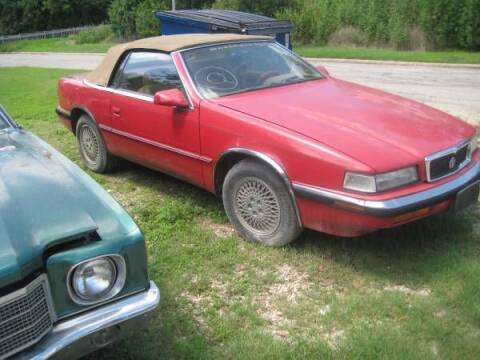 1989 Chrysler TC for sale at Classic Car Deals in Cadillac MI