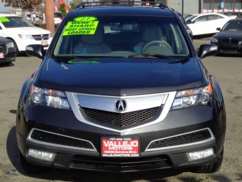 2013 Acura MDX for sale at Vallejo Motors in Vallejo CA
