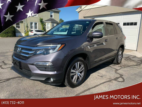2018 Honda Pilot for sale at James Motors Inc. in East Longmeadow MA