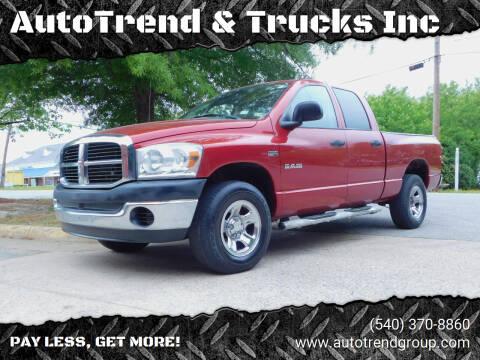 2008 Dodge Ram Pickup 1500 for sale at AutoTrend & Trucks Inc in Fredericksburg VA