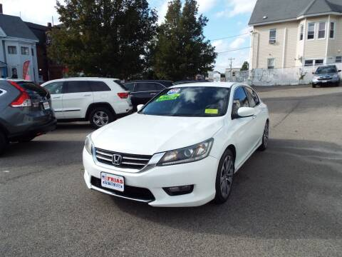2014 Honda Accord for sale at FRIAS AUTO SALES LLC in Lawrence MA