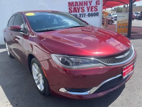 2015 Chrysler 200 for sale at Manny G Motors in San Antonio TX