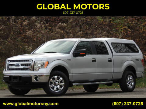 2013 Ford F-150 for sale at GLOBAL MOTORS in Binghamton NY