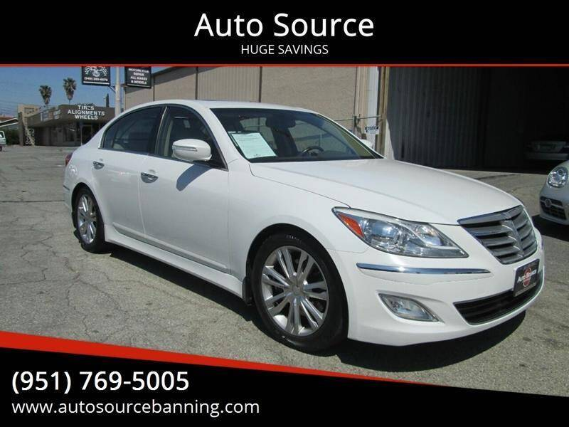 2013 Hyundai Genesis for sale at Auto Source in Banning CA