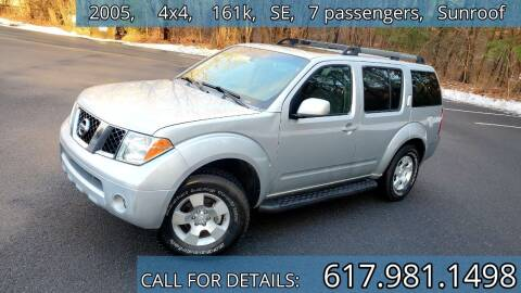 2005 Nissan Pathfinder for sale at Wheeler Dealer Inc. in Acton MA