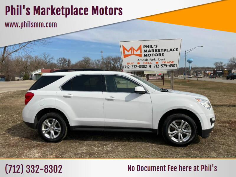 2015 Chevrolet Equinox for sale at Phil's Marketplace Motors in Arnolds Park IA