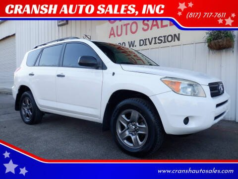 2008 Toyota RAV4 for sale at CRANSH AUTO SALES, INC in Arlington TX