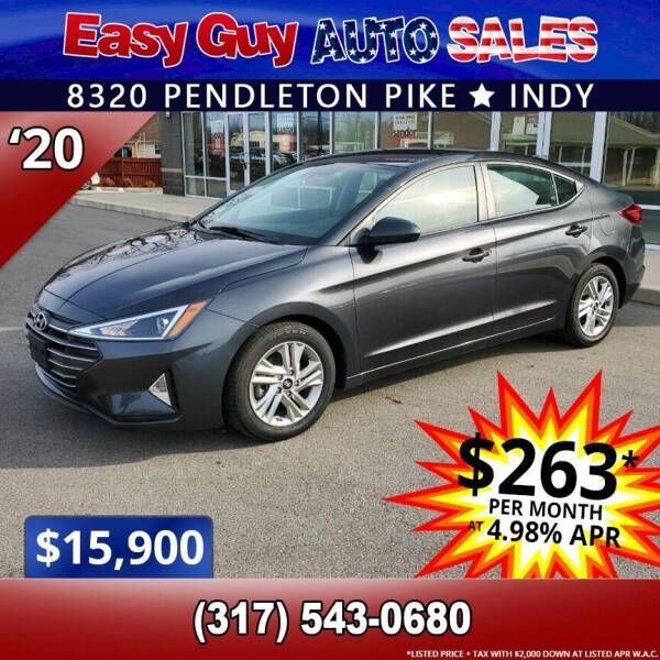 2020 Hyundai Elantra for sale at Easy Guy Auto Sales in Indianapolis IN