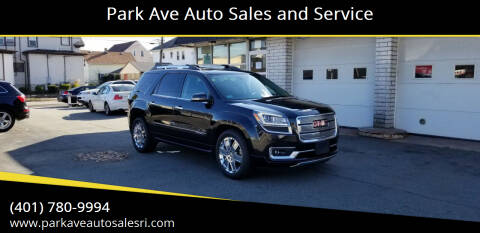 2014 GMC Acadia for sale at Park Ave Auto Sales and Service in Cranston RI