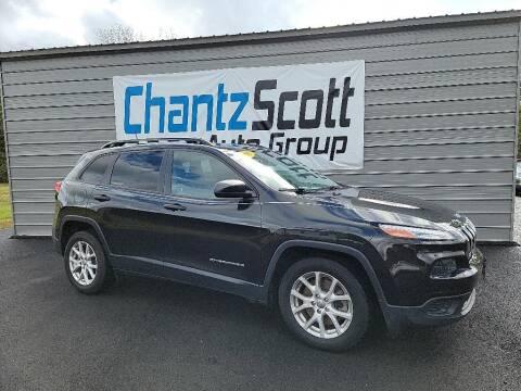 2016 Jeep Cherokee for sale at Chantz Scott Kia in Kingsport TN
