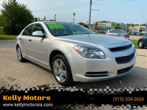2012 Chevrolet Malibu for sale at Kelly Motors in Johnston IA