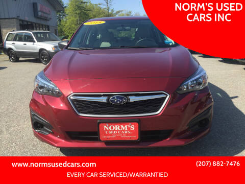 2018 Subaru Impreza for sale at NORM'S USED CARS INC in Wiscasset ME