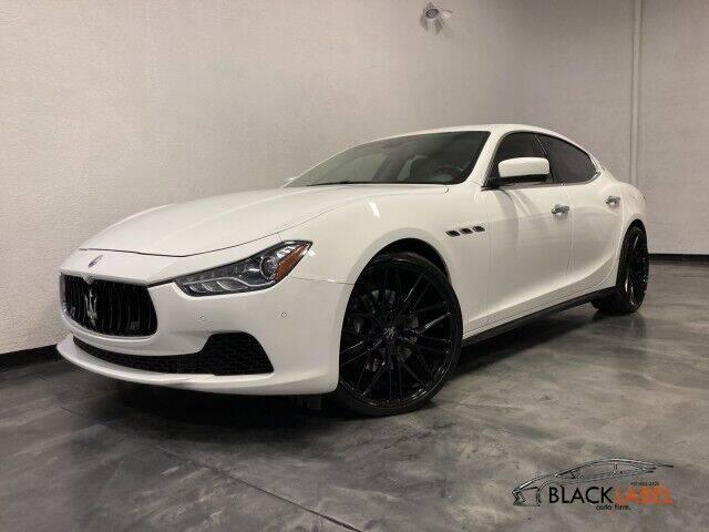 2015 Maserati Ghibli for sale at BLACK LABEL AUTO FIRM in Riverside CA