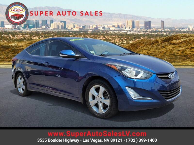 2016 Hyundai Elantra for sale at Super Auto Sales in Las Vegas NV