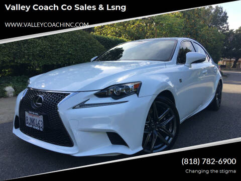 2016 Lexus IS 300 for sale at Valley Coach Co Sales & Lsng in Van Nuys CA