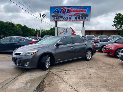2014 Toyota Avalon Hybrid for sale at ANF AUTO FINANCE in Houston TX