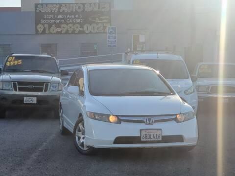 2006 Honda Civic for sale at AMW Auto Sales in Sacramento CA