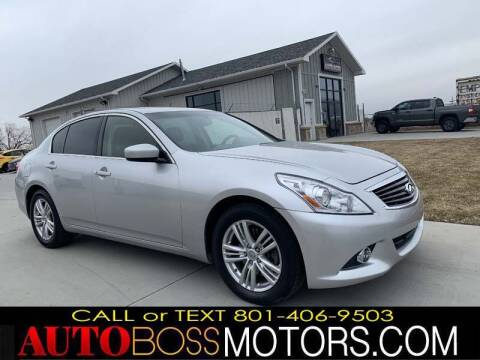 2013 Infiniti G37 Sedan for sale at Auto Boss in Woodscross UT