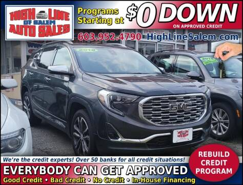 2018 GMC Terrain for sale at High Line Auto Sales of Salem in Salem NH