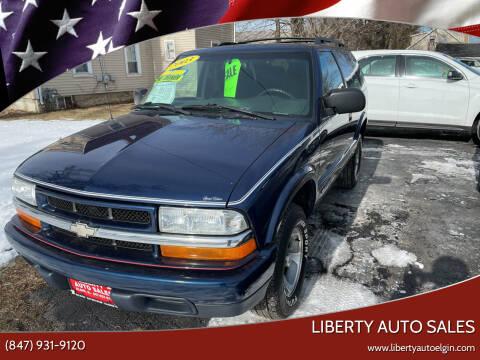 2003 Chevrolet Blazer for sale at Liberty Auto Sales in Elgin IL