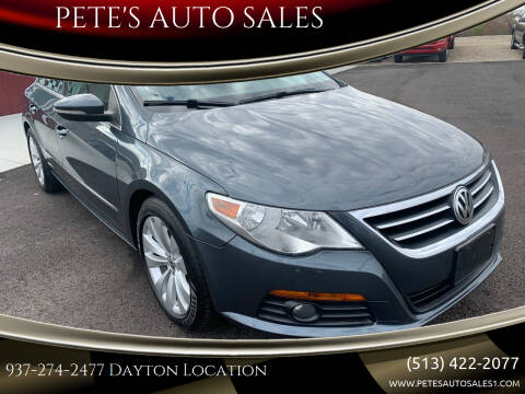 2010 Volkswagen CC for sale at PETE'S AUTO SALES - Dayton in Dayton OH