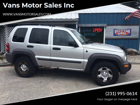 2003 Jeep Liberty for sale at Vans Motor Sales Inc in Traverse City MI